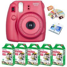 Fujifilm Instax Mini 8 Camera Raspberry + Fuji Instant Film 50 Photo + Free Gift