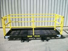 "4' x 10' Work Platform 42"" High Guard Rails, Dual Gates, 7.75x3 Fork Pocket"