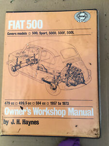 Fiat 500 1957-1973 Haynes Workshop Manual. 500, Sport, D, F, L, Station Wagon