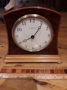 Comitti London Bur Yew Mantle Clock