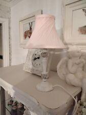 Stunning Vintage Refurbished  Laura Ashley Crystal   lamp, pink shade