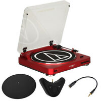 Audio-Technica AT-LP60RD Fully Automatic Stereo Turntable System (Red) Bluetooth