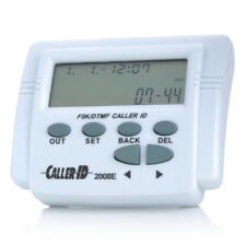 Adjustable Mobile Tele LCD Display Screen Plastic FSK DTMF Caller ID w/ Calendar