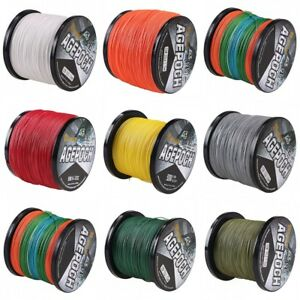 8 Strand 100~1000m Braided Fishing Line Multicolor/Yellow//Grey/Green PE Dyneema