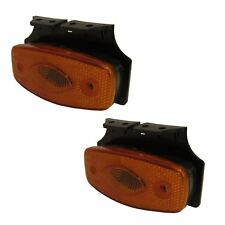 Trailer Amber / Orange Side Marker Light / Lamp with Bracket PAIR TR063