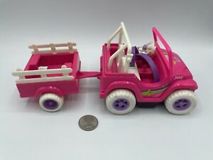 Barbie 1998 Kelly and Tommy Jeep Cart Power Wheels - WORKING BEEPS DRIVES