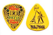 Cheap Trick Rick Nielsen Paris Las Vegas Yellow Guitar Pick #3 - 2010 Tour