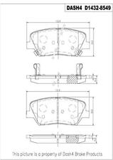 Front Ceramic Brake Pads CD1432 Dash 4 Brake
