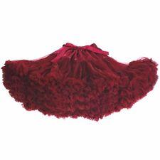 Women's Adult Teenage Girls Ruby Chiffon Fluffy Tutu Dance Skirts Family Clothes