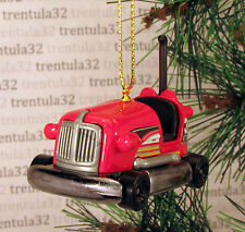 Bumper Car CHRISTMAS TREE ORNAMENT Red/Black XMAS
