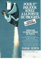 Publicité Advertising 057  1984  Rank Xerox   le micro copieur  1020
