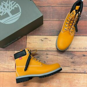 Timberland Men's Premium 6 Inch Helcor Leather Medium Orange Boots A2NBW