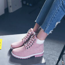 Women's Winter Martin Ankle Boots Casual Outdoor Work Waterproof Lace up Shoes