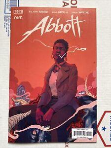 ABBOTT #1 Comic🔥🔥NM 9.6! OPTIONED PARAMOUNT Studio VHTF Low Print Boom Studios