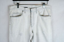 Dior Homme White Denim Jeans Pants Skinny Distressed 32 34 SAINT LAURENT PARIS