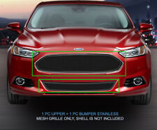 Black Wire Mesh Grille Combo Insert For 2013 2014 2015 Ford Fusion
