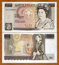 Great Britain, 10 pounds (1988-1991) P-379e, QEII, UNC
