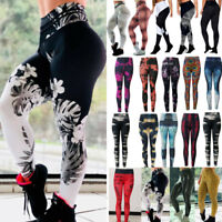 New Women's Print Pattern Stretch Full Long Ladies Leggings Small & Plus Sizes