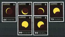 Alderney 2017 estampillada sin montar o nunca montada eclipse solar de los eclipses costeras Sol 6 V Set Termocrómico sellos