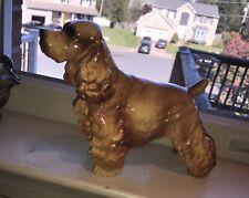 Vintage Standing American Cocker Spaniel Dog Figurine – Signed 8� X 6�