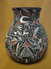 Native American Acoma Nature Pot Hand Painted by C. Estevan!