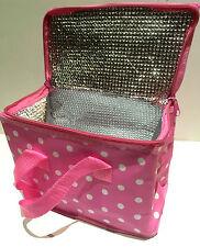 Leonardo Insulated Lunch Bag Sandwich School/Picnic/Food Bag Double Zip in Pink