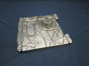 The Mummy Book of Amun Ra Prop with Key (Book of the Dead style) Brass Finish