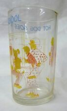 Welch's Jelly Collectible Glass Hot Dog Goes To School Archie Vintage 1971