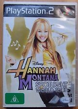 Ps2 game Disney Hannah Montana Spotlight world tour complete G Rated