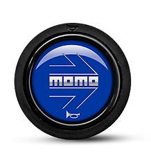 MOMO Steering Wheel Horn Button Blue