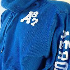 Aeropostale Mens Size Large Hoodie Thermal Kangaroo Pocket Long Sleeves Blue
