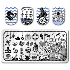 BORN PRETTY Rectangle Stamping Template Voyage Anchor Nail Art Plates BP-L068