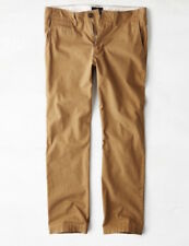American Eagle Original Straight Brown Khaki Pants Mens 28 X 30