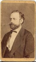 Strelisky CDV photo Herrenportrait mit Widmung - Pesten 1870er
