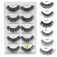 5Pair 100% Mink Natural Thick False Fake Eyelashes Eye Lashes Makeup Extension/1