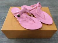 BNWT Louis Vuitton Pink Flip Flops Thong Slippers Size 38 FR RRP £495*