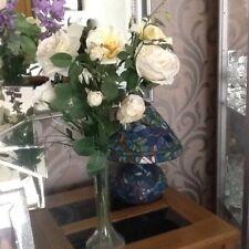 QVC Peony Rose Flowers in original vase