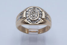Beautiful Lady Ring with 0.22 Ct Single Cut Round Diamonds in 14K Yellow Gold