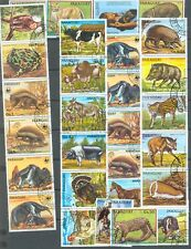 Paraguay 1976-88 ANIMALS 5 sets of 4, 6, 7 or 8 values (32 stamps)  used cto