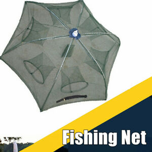 6 Holes Saltwater Fishing Cast Net Bait Trap Catching Smelt Eel Crab