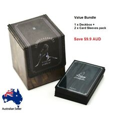 Timewalker HouseStark Wolf DECKBOX + Card Sleeves MTG Magic Yugioh Pokemon Card