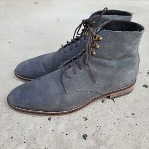 Banana Republic Gray Snuff Suede Ankle Boots sz 11.5 M MENS US