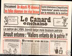 CANARD ENCHAINÉ Birthday Newspaper JOURNAL NAISSANCE 12 SEPTEMBRE SEPTEMBER 2012