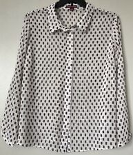 Jessica London Women's Plus Size 22 Button Down Sheer Chiffon Career Blouse New