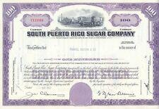Stati Uniti America South Puerto Rico Sugar vecchia azione ordinaria 1963 decorativa