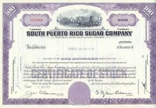 USA Amerika South Puerto Rico Sugar alte Aktie 1963 dekorativ