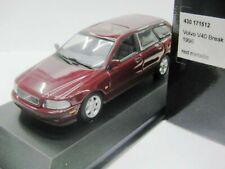 WOW EXTREMELY RARE Volvo V40 Break 2.0 16V1996 D.Red 1:43 Minichamps-850/V70/ES