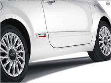 Fiat Official Genuine 500 Side Panel Door Pair Italian Badge With Logo 50901676