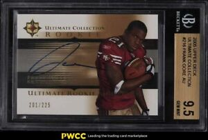 2005 Ultimate Collection Frank Gore ROOKIE RC AUTO /225 #215 BGS 9.5 GEM MINT