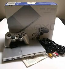 Sony PlayStation 2 PS2 Slim Satin Silver Console in Box SCPH-90001 SS  *TESTED